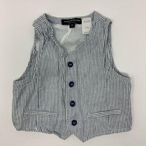 Vertical stripe button front vest size 12 months